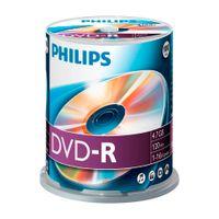 Philips DVD-Rohlinge, 120Min, 4.7GB, Speed 16x, Spindel (100 Disc)