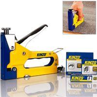 Kinzo 3in1 Hand Tacker und Heftgerät Set  inkl. 1000 Klammern + 500 Nägel