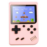 Handheld Retro Spielkonsole Videospielkonsole Gameboy Eingebaute 500 klassische Spiele Kindergeschenke Farbe:Pink