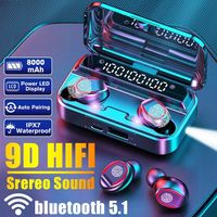 Abelanja Wireless Bluetooth 5.0 Touch Control In-Ear Kopfhörer LED Anzeige Ladekasten