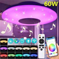 Meco 60W 102 LED bunte helle Fernbedienung RGB Bluetooth Musik Deckenleuchte mit Fernbedienung -White control
