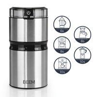BEEM AROMA DELUXE Kaffeemühle - 60 g Flachklingenmahlwerk 150 W