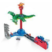 Hot Wheels Drachen Luftangriff Track-Set inkl. 1 Spielzeugauto, Autorennbahn