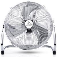 AERSON Bodenventilator 100W 40cm Windmaschine Tischventilator Ventilator Standventilator