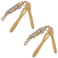 2er Set Springseil 2m mit Holzgriffen Hüpfseil Sprungseil Für Kinder und Erwachsene Fitness Training Spiel Sprung Seil