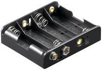4x AA (Mignon) Batteriehalter, Druckknopf