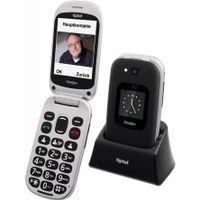 Tiptel Ergophone 6420 black Klapphandy 2,8 Zoll Großtastentelefon Seniorenhandy
