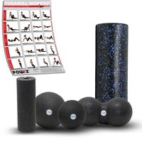 Faszienrolle 5er Set Professional Foam Roller Massagerolle Gymnastikrolle