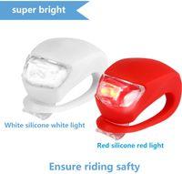 Fahrradbeleuchtung Super Frog Silikon LED Fahrrad-Licht vorne und hinten Fahrrad-Licht-4Pcs