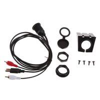 Stück USB2 Rca 3,5 Mm Aux Usb 2.0 Verlängerung Montieren Kabel 5 mm AUX Kabel Größe 1 Meter