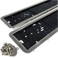 2 Stück Edelstahl Kennzeichenhalter hochglanz poliert INOX Edelstahl