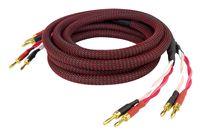 Dynavox Perfect Sound Lautsprecherkabel, Paar, flexibles High-End Lautspecher-Kabel mit hochwertigen Bananensteckern, konfektioniert , Farbe schwarz/rot, Länge 2 m