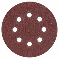 Schleifblatt-Set für Exzenterschleifer, 25-teilig, 8 Löcher, 125 mm, 40