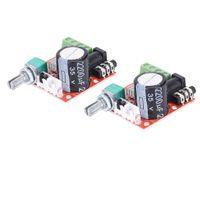 2 Teile / Satz 12 V Hi Fi PAM8610 Audio Stereo Verstärkerplatine 2X10 Watt 2 Kanal D Klasse