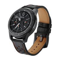 Armband für Samsung Gear S3 Classic / S3 Frontier 22 mm Leder - schwarz