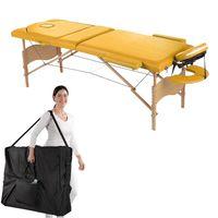 Mobile Massageliege Massagebank Gelb Inkl.Tasche Liege 3 Zonen Klappbar