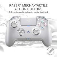 RAZER Raiju Tournament Edition Mercury 2019 Kabelloser und kabelgebundener Controller (mit Mecha-Tactile-Aktionstasten, Mobile App, kompatibel mit PS4 und PC),Weiß