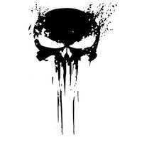 Punisher Skull Blood Vinyl Auto Aufkleber Aufkleber Motorraeder Dekoration