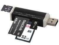 All-in-One Speicherkartenleser Cardreader für SD/Micro SD/M2/M2PRODUO USB Kartenlesergerät Multi Kartenleser Adapter Schwarz