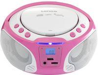 Lenco Radio SCD-650, CD-Player, Farbe: Rosa