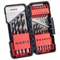 Bosch Metallspiralbohrer HSS-Set PointTeQ, DIN 338, 18-teilige ToughBox