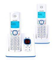 Alcatel F530 DECT-Telefon Blau, Weiu00df Anrufer-Identifikation - Plug-Type C (EU)