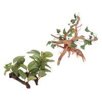 Satz Von 2, Aquarium Kunstpflanzen Ornament Reptilien Terrarium Pflanzen
