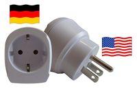 Reiseadapter für USA. Steckeradapter für Geräte aus Deutschland