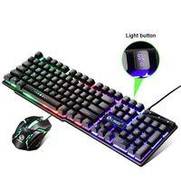 LED Gaming Tastatur und Maus Set Beleuchtete Mechanisch für PC Laptop MAC/WINDOWS Computer Schwarz
