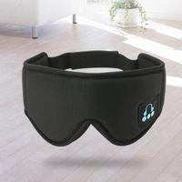 Drahtlose Bluetooth Stereo Augenmaske Schlafkopfhörer Zum Schlafen Schwarz 45 x 12 cm