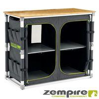 Design XXL Campingschrank vollständig faltbar – mit zusätzlichem, seitlichem Regal zum Ausziehen – EXTREM robust Zempire Fold TWIN ZE-0170403