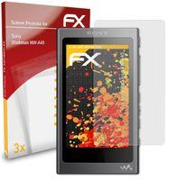 atFoliX FX-Antireflex 3x Schutzfolie kompatibel mit Sony Walkman NW-A45 Panzerfolie