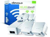 Devolo dLAN 550 WiFi Network Kit Powerline (500 Mbit/s 3 Adapter im Set) - Plug-Type F (EU)