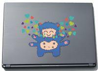 Laptopaufkleber Laptopskin clm025 - Lustige kleine Monster - Engel - 150 x 190 mm Aufkleber