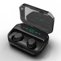 [CVC8.0 Noise Cancelling] Ohrhörer Bluetooth 5.0 Wireless TWS Ohrhörer Kopfhörer 5D Stereo IPX7 Wasserdicht 3500mAh mit LED-Anzeige