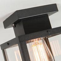 Landhaus D 230 mm Deckenlampe Außen bri Rustikal ... QAZQA Deckenleuchte