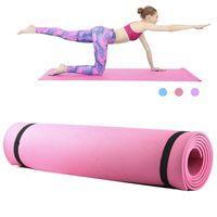 LIXADA®Yogamatte Fitnessmatte Gymnastikmatte Sportmatte rutschfeste Matte 173*61*0.6 cm  Rosa