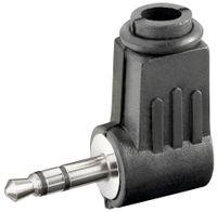 goobay Klinkenstecker 3,5 mm Stereo Plastikhülse, Winkel