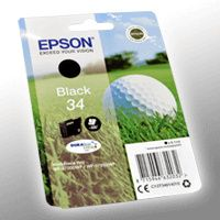 Epson 34 C13T34614010 Schwarz  Original Tinte 350 Seiten