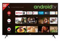 Telefunken XU58AJ600 55 Zoll Fernseher / Android TV (4K Ultra HD, HDR, Triple-Tuner, Smart TV, Bluetooth) [Modelljahr 2020]