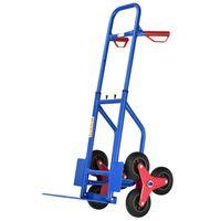Juskys Treppensackkarre klappbar & höhenverstellbar | Hartgummireifen | Kunststoff Griffe | Stahl Rahmen | Treppenkarre Treppensteiger Sackkarre