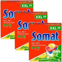 Somat 7 All in 1 Zitrone Limette Multi-Aktiv Spülmaschinen 3x60 Tabs Reinigung