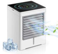 Ciskotu® Mini Portable Luftkühler Tischventilator Klimaanlage Klimagerät Tragbar Ventilator für Zuhause Büro Luftbefeuchter Luftreiniger