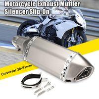 38-51mm Universal Motorrad ATV Auspuff Endtopf mit Schalldämpfer abnehmbar