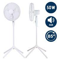Ventilator Standventilator 50W Luftkühler Ventilator Lüfter Oszillierend Weiß