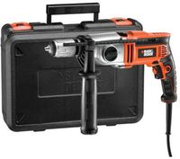 BLACK+DECKER Schlagbohrmaschine KR8542K ,orange/schwarz, 850 Watt