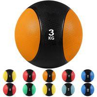 arteesol 3kg Medizinbälle Gewichtsball Gummi Medizinball Gymnastikball Fitnessball Rehaball Slamball