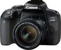 Canon EOS 800D + EF-S 18-55mm 4.0-5.6 IS STM, 24,2 MP, 6000 x 4000 Pixel, CMOS, 10x, Full HD, Schwarz