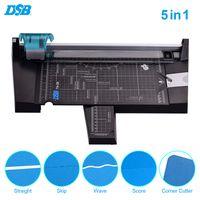 DSB 5-in-1-Papierschneider Multifunktionaler A4-Papier-Fotoschneider Gerader Skip Wave Score-Eckschneider mit 12-Zoll-Schnittlaenge fuer Schulbuero-Fotostudio