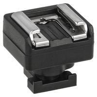 JJC Blitzschuhadapter für Canon Camcorder Mini-Zubehörschuh ermöglicht die Anbringung von Zubehör mit Standardaufsteckfuß wie z.B Videoleuchten, Mikrofone oder Monitore